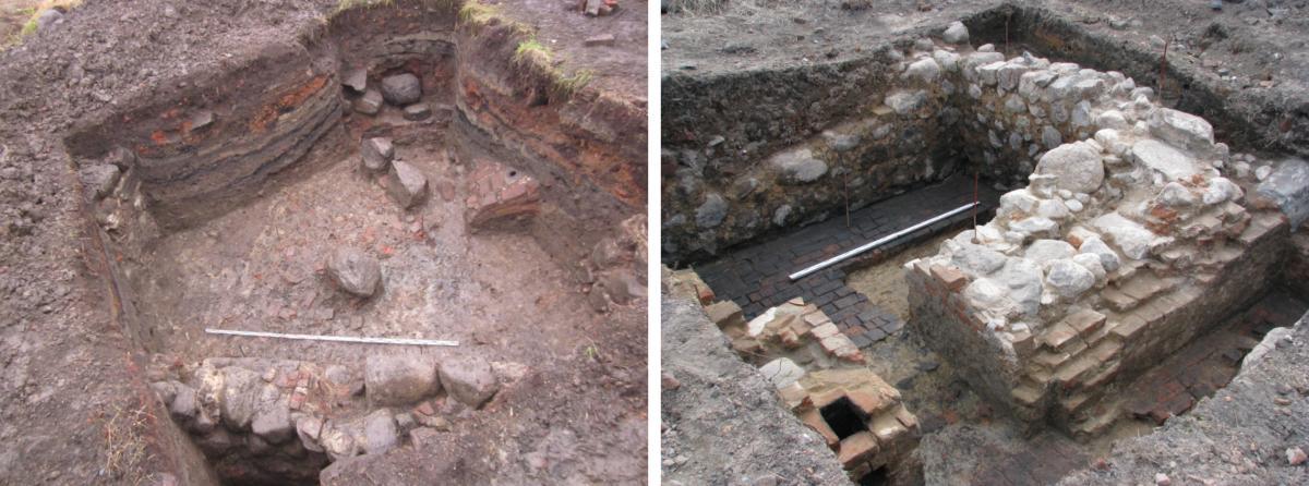 Фото раскопов I и II